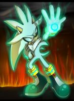 Silver the hedgehog [SPEED PAINT] by 5catsonebowl