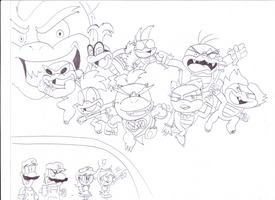 Bowser jr. & the Koopalings by sonic4ever760