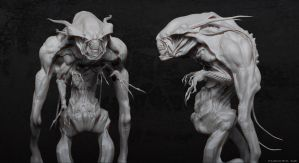 albino alien by tiger1313