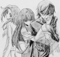 Love triangle [Code Geass] by Rosae94