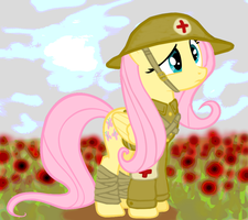 Fluttershy of Flanders Field by ColorCopyCenter