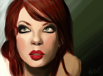 Speedpaint - Shirley Manson by melissasoup