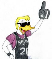 Spurs Duckie by FictionArtwing