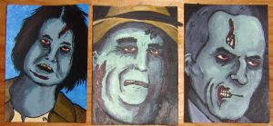 Zombie ATC Trio by ReverendBonobo