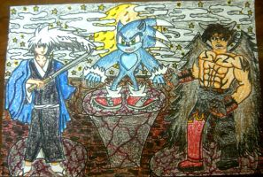 Demon Nura vs Werehog Sonic vs Devil Jin by KambalPinoy
