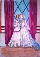 Elsa and Anna Wedding by Scarborrough