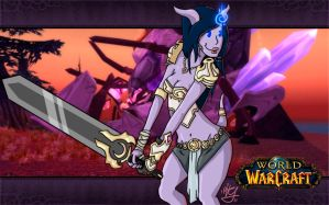 wow: draenei girl by PiTY91