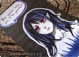 Adventure Time - Marceline - card by Svveet
