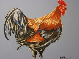 Rooster Painting by JadasArtVision