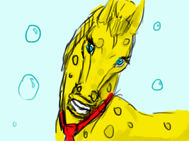 Spongebob the Horse by BREAD-the-PIRATE