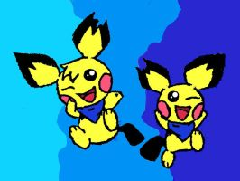 Pichu brothers coloured by LexyHedgehog