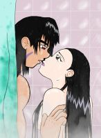 Steamy Shower (Colored) by kitkatnis