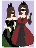 Two dark princesses by Drawinglover2002