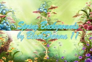 Premade Spring Backgrounds by BlackDreams11