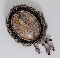 Indian Agate Brooch by dragonariaes