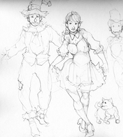 Sketchbook '10 - Wizard of Oz by LMJWorks
