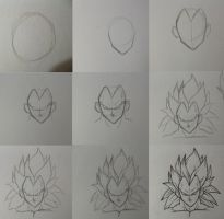 how to draw ssj3 Vegeta by rondostal91