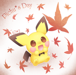 Autumn Pichu by CaninePrince