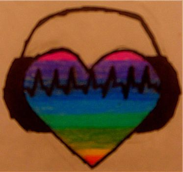 Music keeps my heart colorful by iRainbowBrite