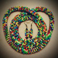 Particolored bead crochet set by OohShinyJewelry