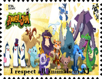 I respect all animals in Animal Jam Stamp by DigiPonyTheDigimon