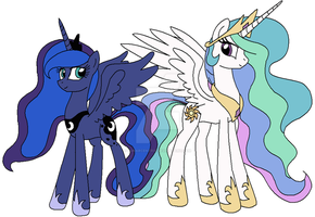 Royal Sisters by Lunarcentric