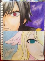 Zeref / Mavis by charswarrenxo