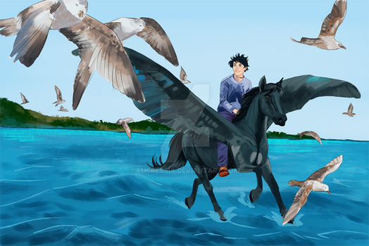 Percy and Blackjack-WIP II by lucressia