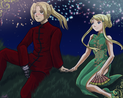 Sep Request - Ed and Winry by Darkbutterfly137