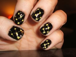 Yellow and Gold on Black by lettym