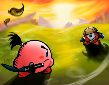 kirby dueling in Combat by amadis33