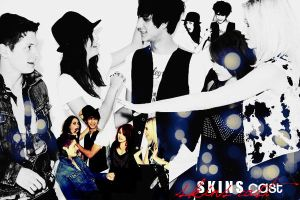 skins cast wallpaper by abbygail14