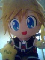 Plushie Sora holds two fruits by sassykim