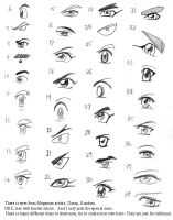 Anime art lesson eye list 1 by mayshing