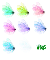 Wing Set 1 png by mysticmorning