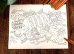 Cake coloring page by ahmuimui