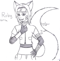 Ruby, as a fox by RubyGirl14