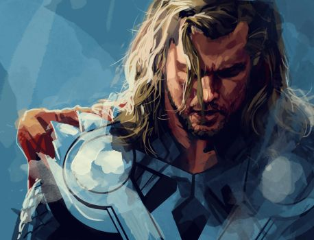 Thor portrait by dicemanart