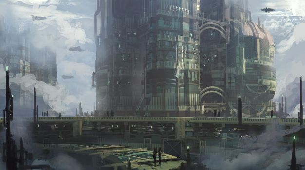City in the clouds speedpaint by Tryingtofly