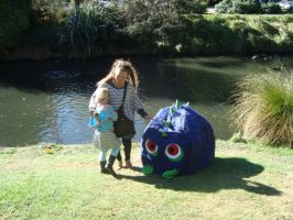 Blue Monster makes some friends by MonstrositiesNZ
