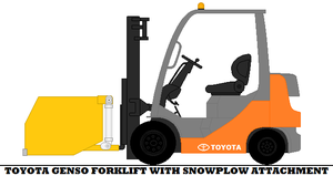 Toyota Genso Forklift With Snowplow Attachment by mcspyder1