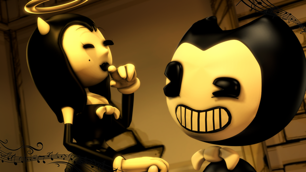 (Bendy SFM) Dancing Fiend....and Angel! by Ferg-E