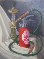still life hookah extinguisher by scox1313