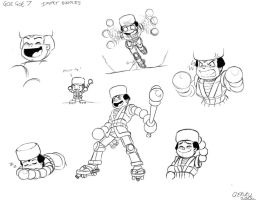 Goe Goe 7 Impact sketches by geruru