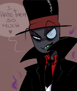 Black Hat hates you by 0Lau-Chan0