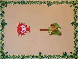 Link and Octorok by PixelArtPaintings