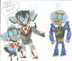 Wheeljacks React to Que by SithVampireMaster27