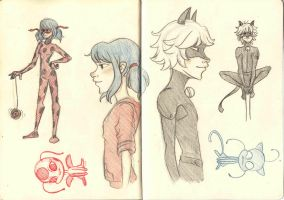 Miraculous Sketchbook Doodles :3 by zzoffer