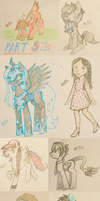 100 free traditional doodles 5/5 by Reporter-Derpy