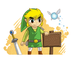 Toon Link and the Blank Sign. by Purrdemonium